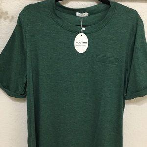 Heathered Green short sleeve tee w/ pocket
